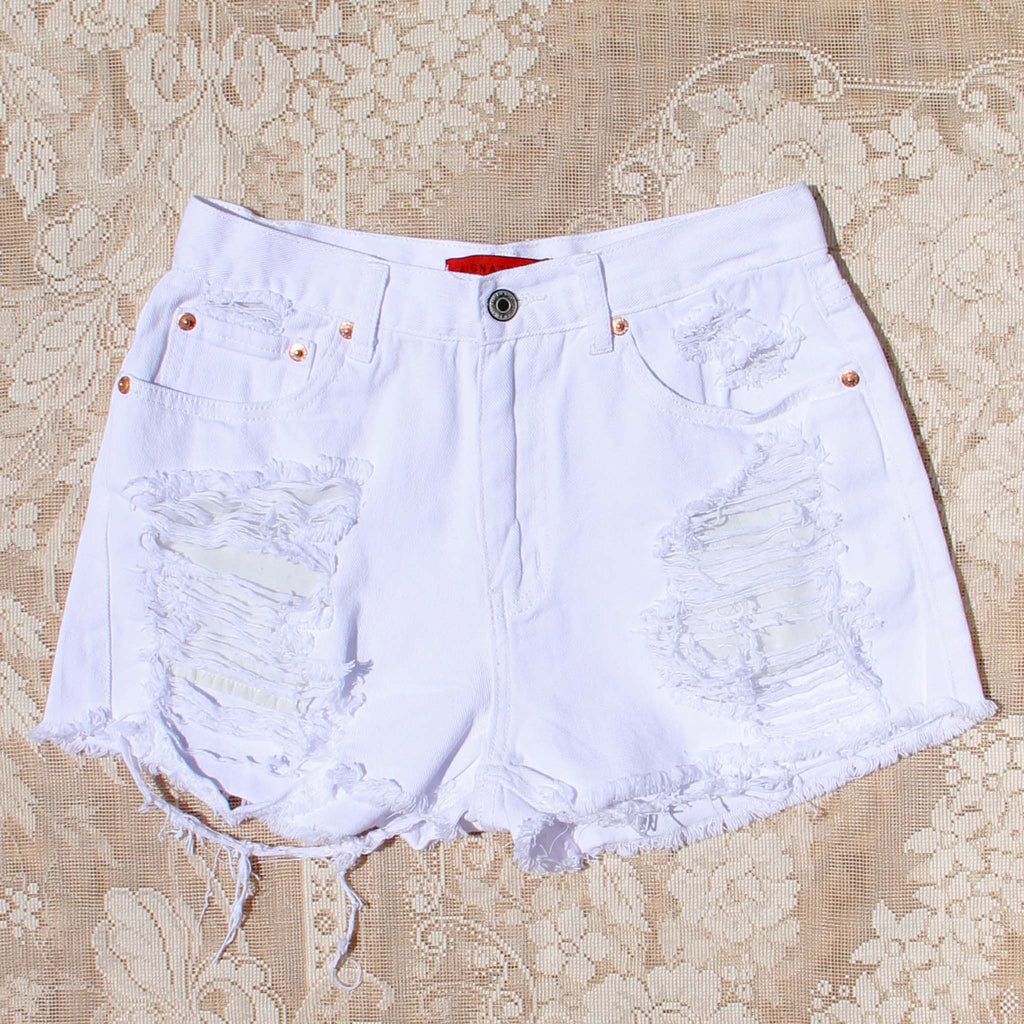 Download White Sands Distressed Shorts, Sweet distressed jean shorts from Spool 72.   Spool No.72