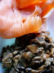 salmon y boletus