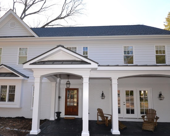 front portico with metal pent roofline   Porches   Pinterest