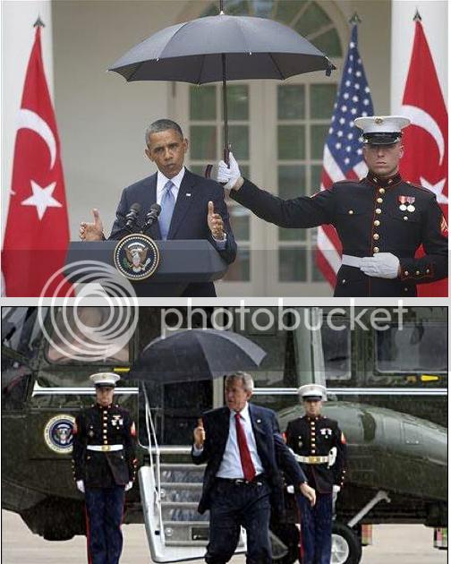 Obama Breaches Marine Umbrella Protocol