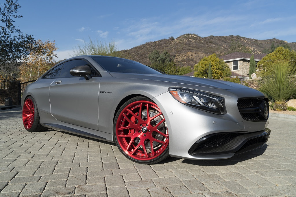 Calabasas Mercedes-AMG S65 Coupe with Red Wheels