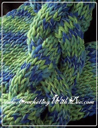 Dee's class sample for 'Crochet Your Knit' class