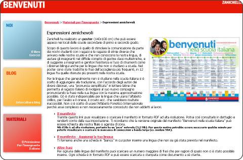 http://www.zanichellibenvenuti.it/materiali/espressioni-amichevoli.html