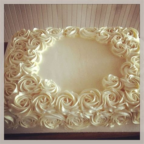 Buttercream rose sheet cake   Cake decorating ideas