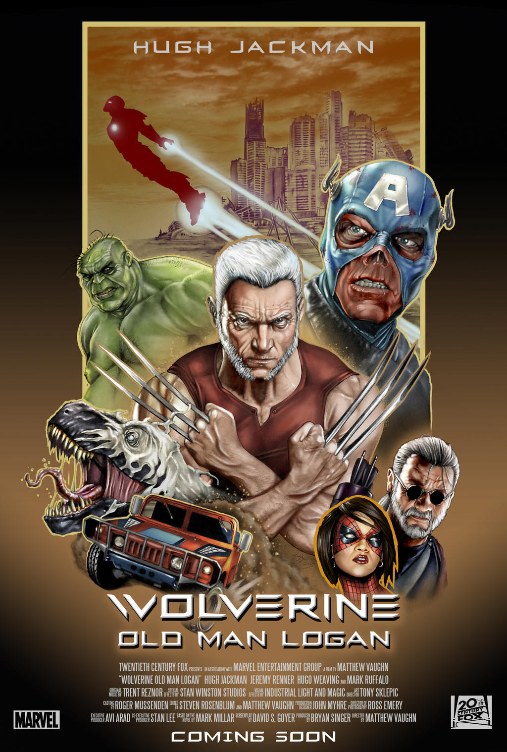 Old Man Logan movie Poster by Draw4u