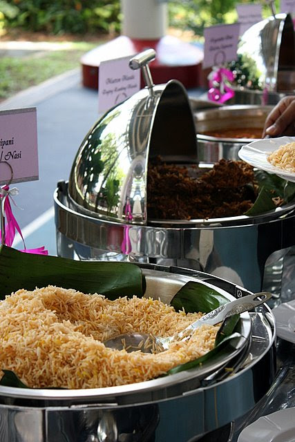 Guests could help themselves to the briyani