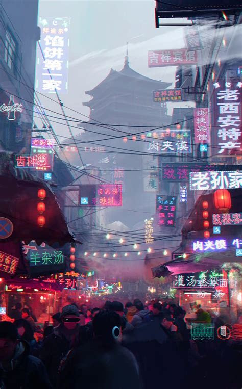 saving  wallpaper   cyberpunk city