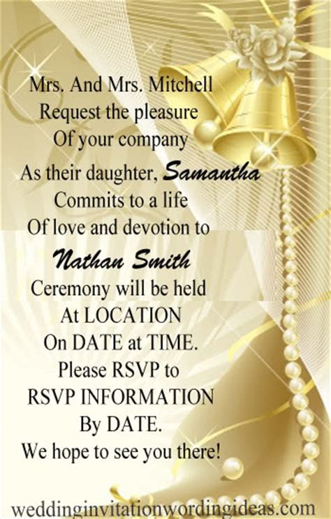Formal Wedding Invitation Wordings ? How To Write