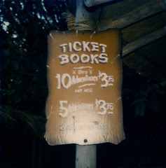 Disneyland Adventureland Ticket Sign, 1970s