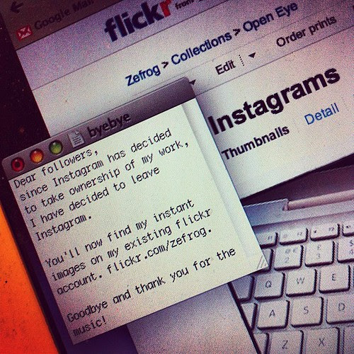 Bye bye Instagram