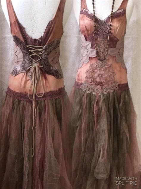 Boho wedding dress, woodland nature dress,elven fairy