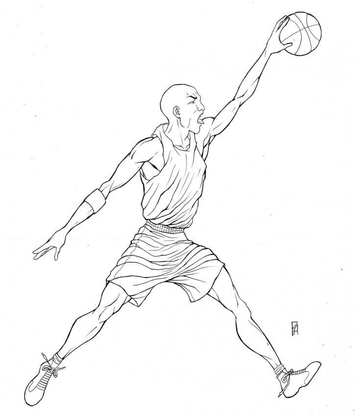Michael Jordan Coloring Pages - Coloring Home
