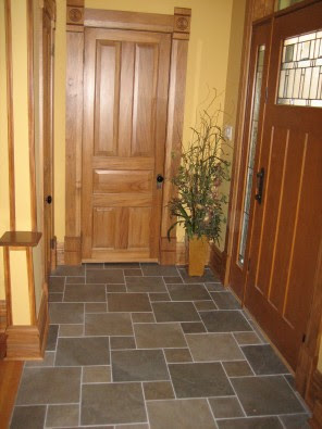 Chicago - Lincoln Square - porcelain tile featured in entryway and