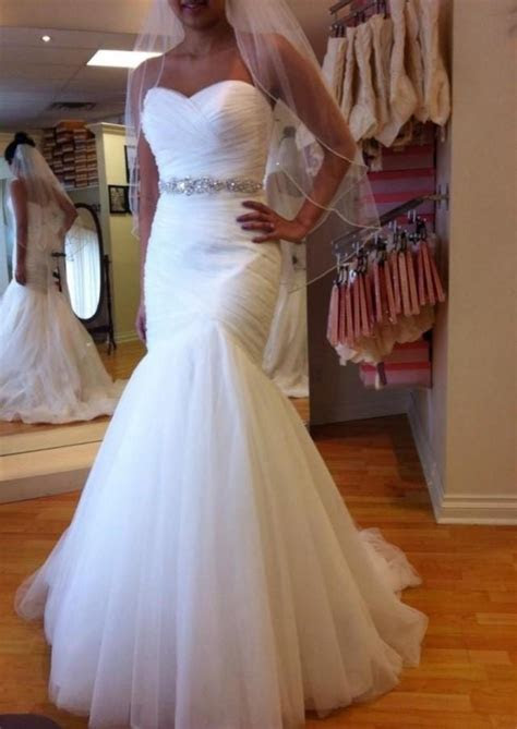 2015 Real Image Wedding Dresses Mermaid Pleated Lace Up