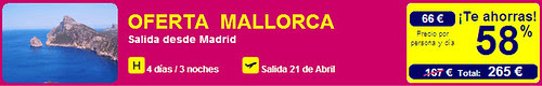 Oferta Vuelo + Hotel Mallorca