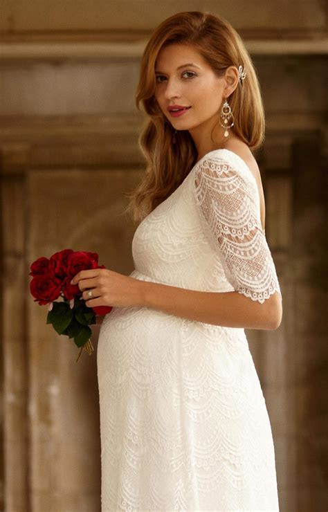 Verona Maternity Wedding Gown (Ivory)   Maternity Wedding