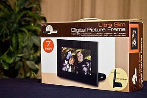 Brand New Digital Decor 7 Inch Ultra Slim Digital Picture Frame Dpf710