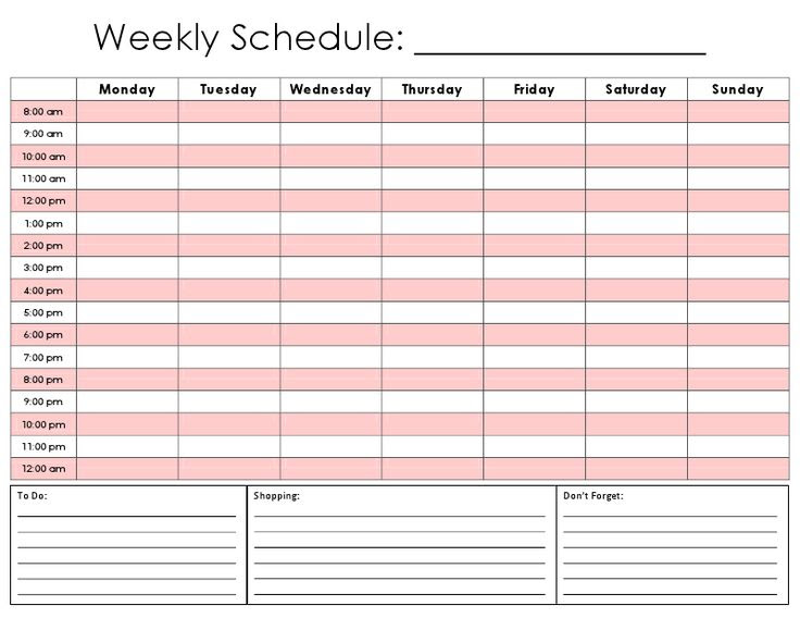 1000+ ideas about Daily Schedule Template on Pinterest   Daily ...