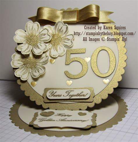Stampin' By The Bay: Happy 50th Wedding Anniversary Mom