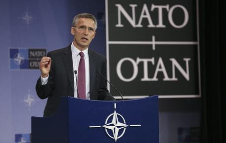 epa05366373 NATO Secretary General Jens Stoltenberg speaks at a news conference marking the end of a Nato Defense Ministers Council meeting at the North Atlantic Treaty Organization (NATO) headquarters in Brussels, Belgium, 15 June 20106. The two-days meeting is held in preperation to the NATO Warsaw Summit on 08/09 July.  EPA/OLIVIER HOSLET