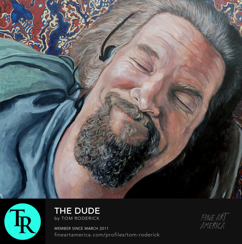 The Dude Abides by Boulder portrait artist Tom Roderick