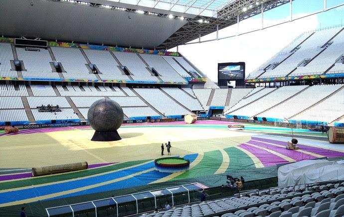 ensaio abertura Copa do Mundo estádio (Foto: Felipe Zito)