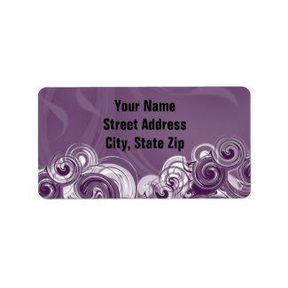 Rolling Purple, digital art, address label
