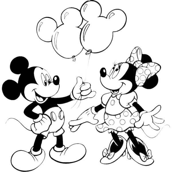 Disegno Di Topolino E Minnie Da Colorare Per Bambini