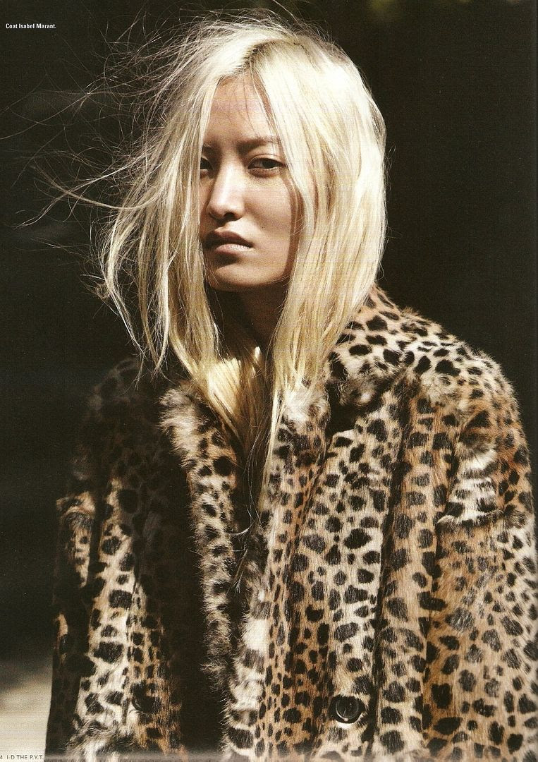 LE FASHION BLOG DAUL KIM LEOPARD AND LEATHER I-D MAGAZINE EDITORIAL PHOTOGRAPHER WILL DAVIDSON STYLIST ERIKA KURIHARA 2009 BLEACH BLONDE HAIR NATURAL BEAUTY NO MAKE UP ISABEL MARANT LEOPARD COAT 1 photo LEFASHIONBLOGDAULKIMLEOPARDANDLEATHER1.jpg