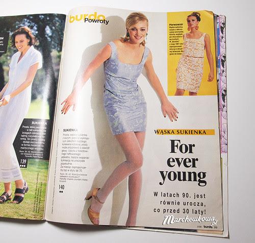 Burda 3/1998 #140, vintage, rretro, 60s, sukienka, szycie, krawiectwo, blog, marchewkowa, szafiarka