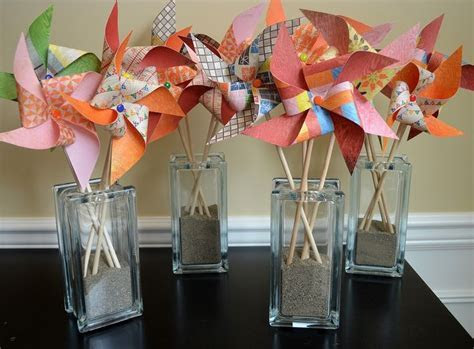 17  best ideas about Pinwheel Centerpiece on Pinterest