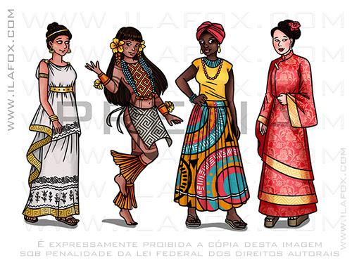 ilustração, ilustrações, mulheres na ciência, astronomia, hypátia, wang, thainá, yashodan, ilustração para ciência, ilustração para livros, ilustração cientifica, ila fox