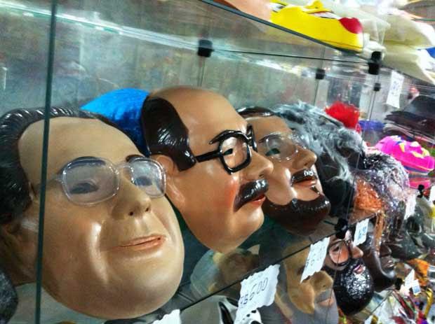 Máscaras prometem fazer parte das fantasias de muito foliões neste carnaval (Filipe barros/Esp. DP/D.A Press)