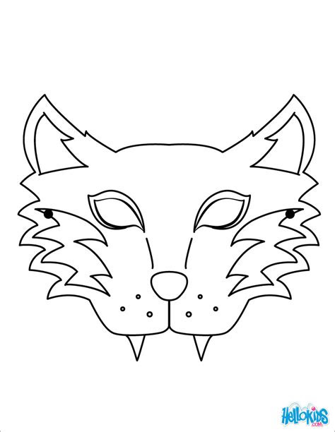 tiger mask coloring pages hellokidscom