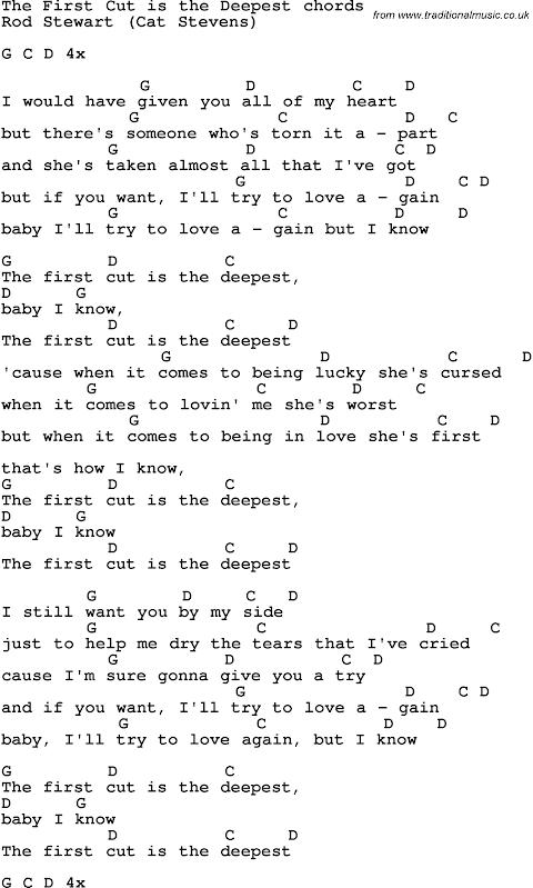 First Cut Is The Deepest By Rod Stewart Lyrics