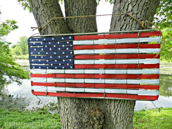 repurposed springs flag