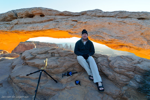 My buddy Dave at Mesa Arch