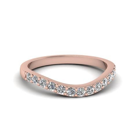 Princess Cut Diamond Vintage Wedding Band In 14K Rose Gold