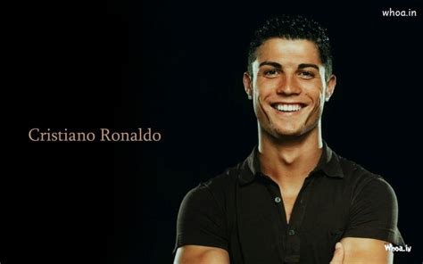 cristiano ronaldo  black  shirt wallpaper