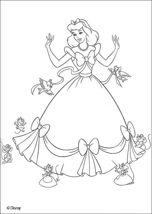Free Printable Cinderella Coloring Pages Coloring Home