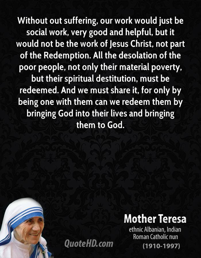 Mother Teresa Quotes On Jesus. QuotesGram
