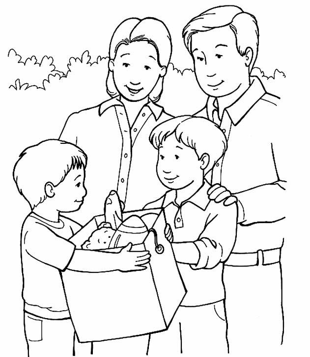 Disegni Famiglia Da Colorare E Stampare Coloradisegni