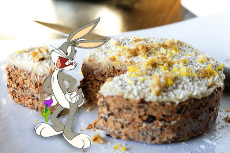 RAW Carrot Cake (2) with bugs