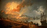 Erupción del Vesubio desde el puente de la Magdalena, de Volaire