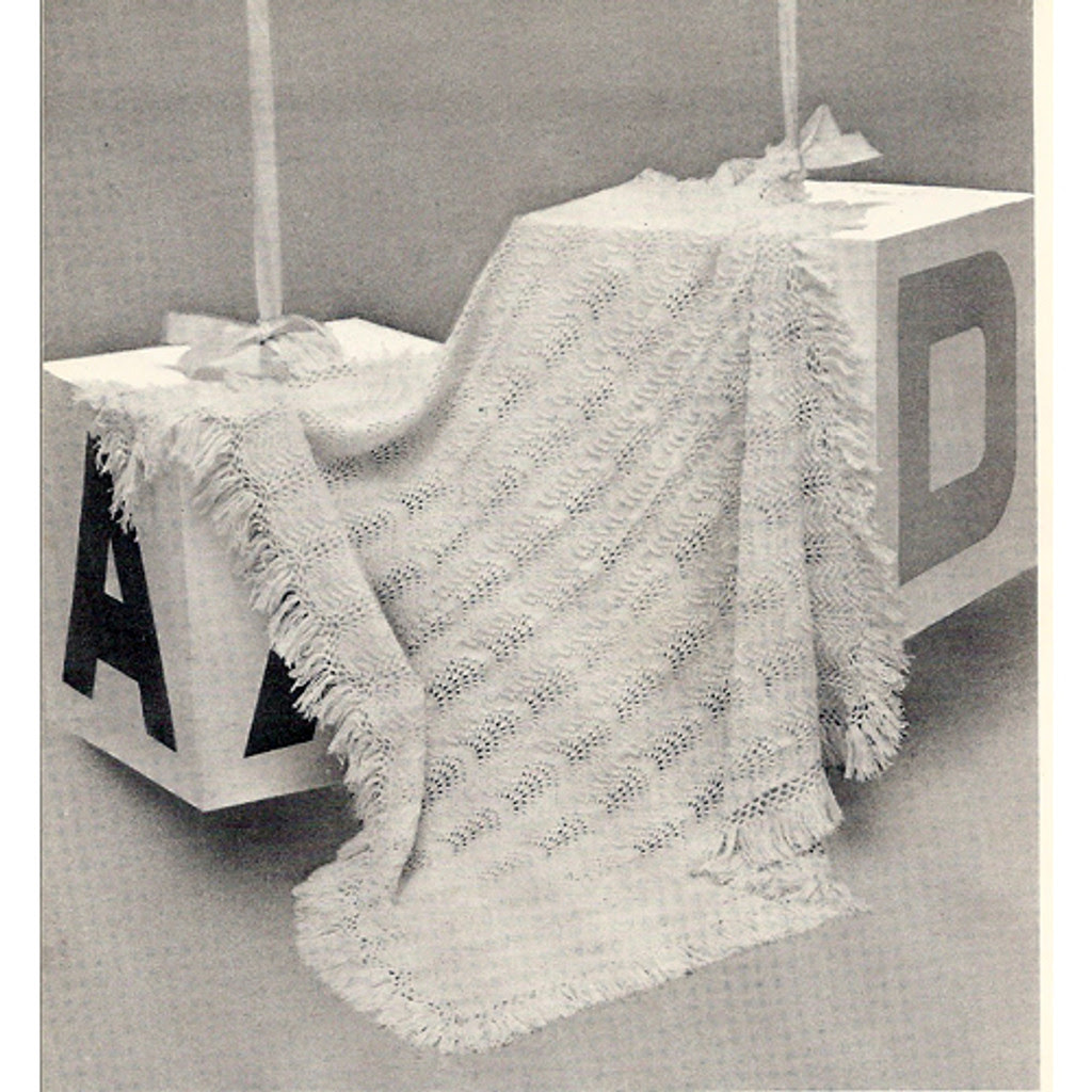 Columbia Minerva Knitted Baby Shawl Blanket Pattern