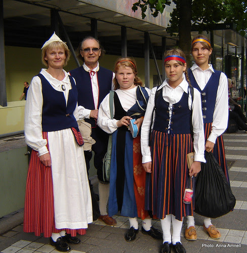 Finnish national costumes by Anna Amnell