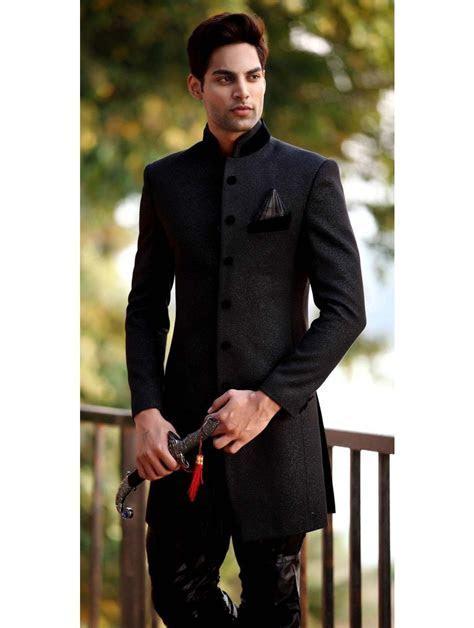 Black Jodhpuri Sherwani   I picked out his outfit too