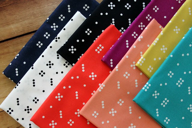 Domino Dots. Love these colors!
