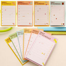 Ne Cute Girl Daily Planner Post Bookmark Marker Sticky Notes ...