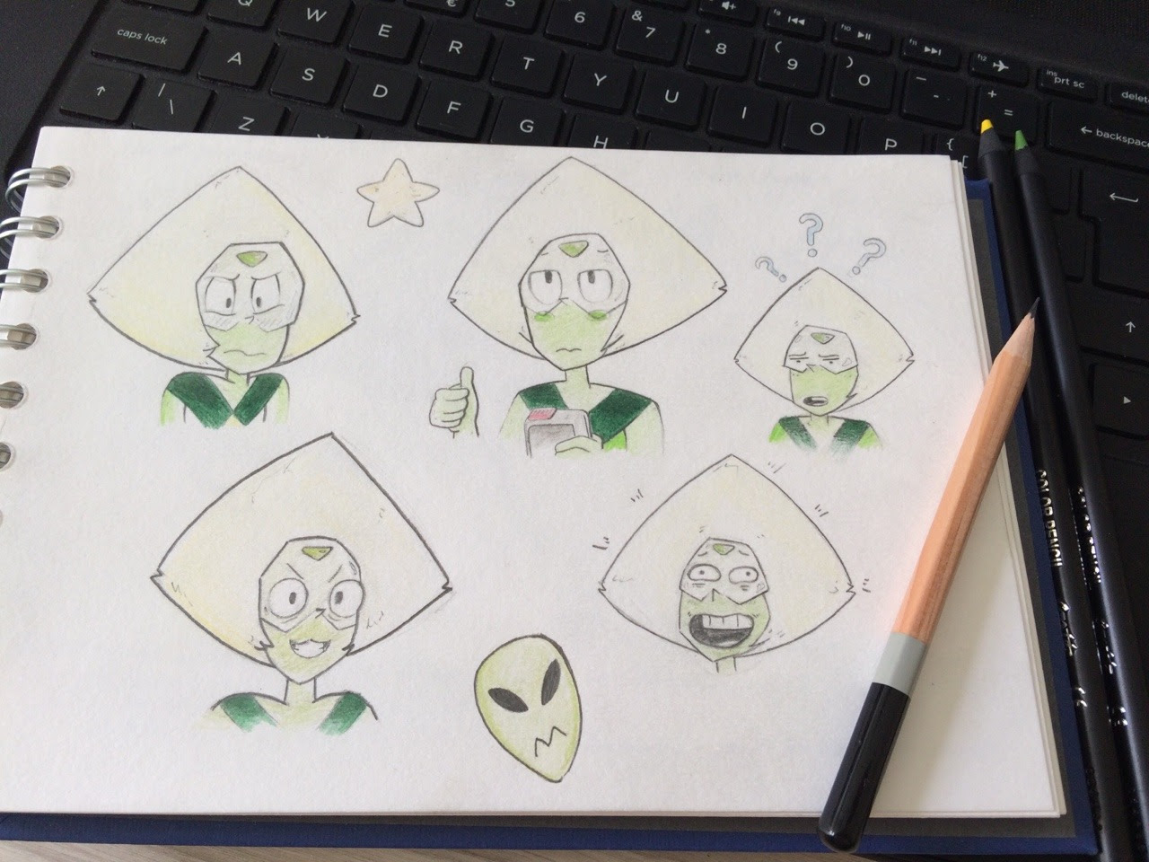 Got bored so I did some peridots :)